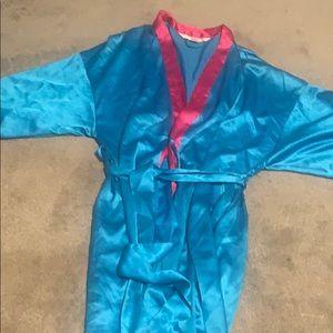 Victoria secrets secret blue bathrobe lingerie
